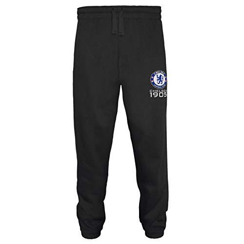 Chelsea FC - Herren Fleece-Jogginghose - Offizielles Merchandise - Geschenk für Fußballfans - Schwarz - XL