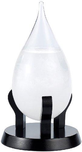 Carlo Milano Wetterglas: Modernes Fitzroy-Sturmglas in Tropfenform, 22cm (Fitzroy Wetterstation)