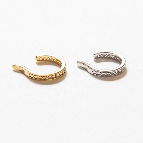GESSIE QA01 1/2PCS 925 Joyas de Plata de Ley 925 Pendientes de Clip de Oreja Irregulares Personalizados para Mujeres Auriculares de Piercing Falso de los Amantes de Las niñas CH0401