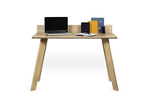 Temahome Loft Schreibtisch, Holz, Eichefurnier/schwarz lackiert, L126xB72xH89 cm