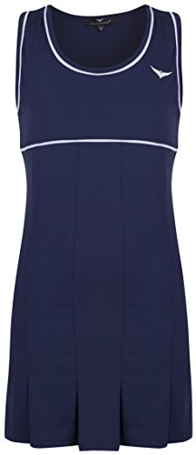 Mädchen-Tenniskleid mit Unterhose, Marineblau und Weiß, blau, 10-11 Jahre