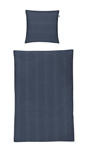 Irisette Mako Satin Bettwäsche 4 teilig Bettbezug 135 x 200 cm Kopfkissenbezug 80 x 80 cm Viola Titan