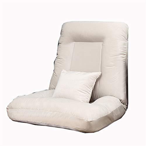 WHOJA Sillón Reclinable Sofá Cama Individual Ajuste de 5 velocidades Suave y Confortable niña Dormitorio Sala de Estar Pequeño sofá Gris Azulado Sillon Relax (Color : Gray)