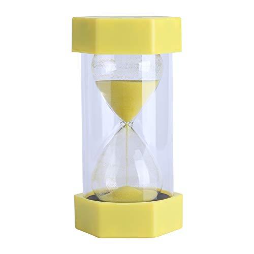 Yosoo Reloj de Arena 10/03/20/30/60 Minutos Reloj Conjunto de Gestión del Tiempo Decoración de Oficina en Casa Regalo (3 Minutos Amarillo)