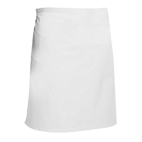 Dennys Catering Schürze/Bistro-Schürze (Einheitsgröße) (Weiß)