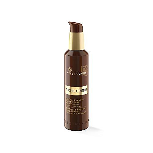 Yves Rocher RICHE CRÈME regenerierende Körpermilch, straffende Bodycreme, für reife Haut, 1 x Pump-Flacon 190 ml