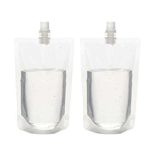 Holibanna 50Pcs Schraube Kappe Auslauf Flüssigkeit Trinken Stand- Up Glaskolben Beutel Reusable Tragbare Kunststoff Glaskolben Wasser Tasche für Reise Schnaps Party Milch Getränke Hause