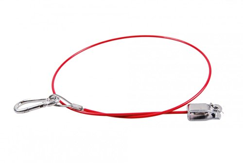 5 Stck. Anhänger Bremse Knott Abreißseil 1050mm rot mir Gabelkopf und Karabiner, Rot