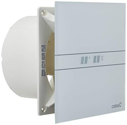 Cata | Extractor baño | Modelo e- 150 Gth | Extractor de baño Serie e Glass | Ventilador Extractores de aire | Extractor baño silencioso | Extractor aire para baño | Color blanco | 6 unidades