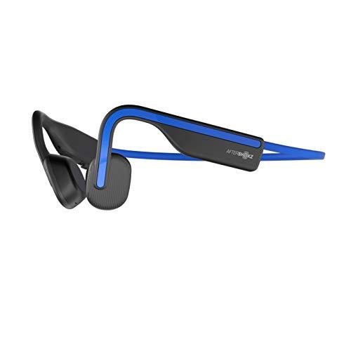 AfterShokz OpenMove Wireless Bone Conduction Headphones Bluetooth Sweat Resistant Earphones with Mic for Sport,Elevation Blue