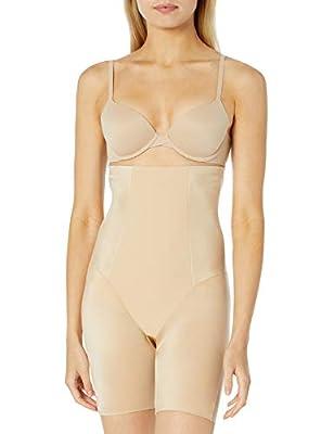 Amazon Brand - Arabella Women's Shine High Waist Thigh Control Shapewear with Spacer, Sand, X-Large