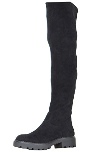 Buffalo Damen Stiefel Myrna, Frauen Overknee Stiefel, Overknee-Boots langschaftstiefel sexy feminin Lady Ladies elegant,Schwarz(Black),40 EU / 6.5 UK