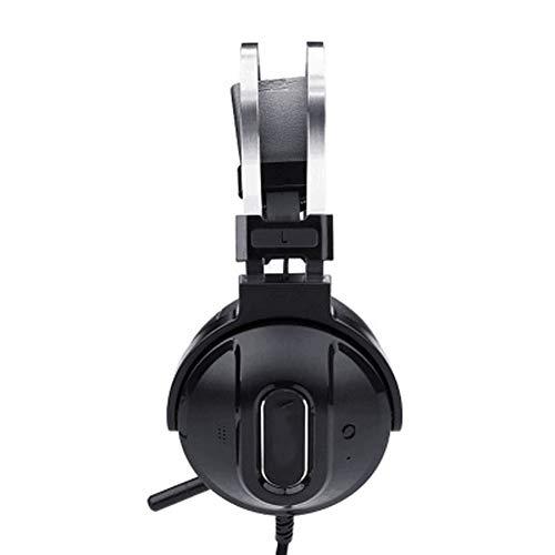 TEMP Casque Casque de Jeu sans Fil Bluetooth sans Fil, Reconnaissance Audio de réduction de Bruit Active 7.1 Son Surround virtuel Jeu de compatibilité Solide Essentiel