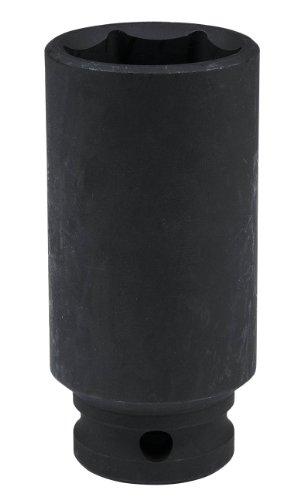 """KS Tools 515.1127 Llaves de vaso de impacto, pavonado (tamaño: hexagonal, 27 mm, 1/2""""), 5.1 cm"""