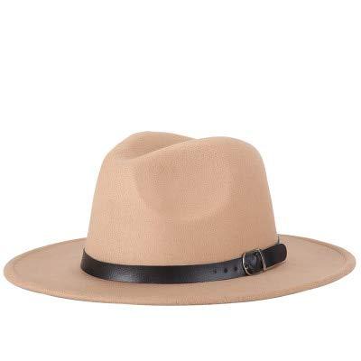 Hombres Fedoras Moda Mujer Sombrero de Jazz Verano Primavera Gorra Negra Sombrero Casual al Aire Libre X XL-beige-56-58CM