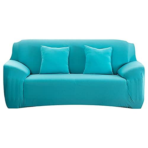 Anti-Rutsch-Sofabezug Universal-Sofa-Abdeckung Für Wohnzimmer-L-Förmiges Elastisches Sofa-Cover Sessel Ecke Cover Sofa Cover-H13Y0006-Himmelsblau_4Seat (235-300 cm)