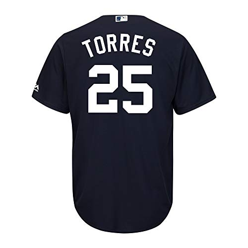 Gleyber Torres New York Yankees Navy Blue Youth Cool Base Alternate Replica Jersey (Medium 10/12)