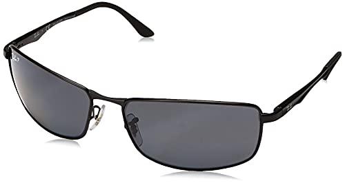 Ray-Ban Unisex Mod. 3498 Sonnenbrille, Schwarz (Gestell: Schwarz, Gläser: Grün Klassisch 002/71), X-Large (Herstellergröße: 61)