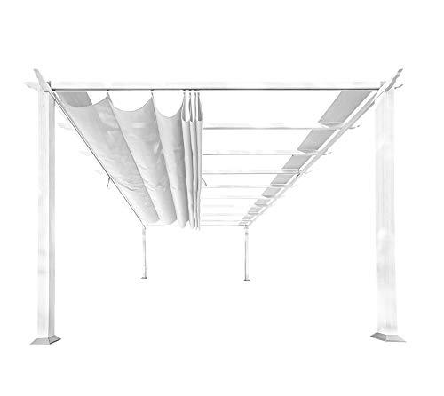 Paragon Outdoor pr16wtw 11 x 16 ft. Verona Aluminium Pergola (weiß Rahmen/Off Weiß Baldachin)