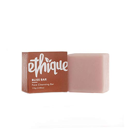 Ethique Eco-Friendly Face Cleansing Bar for Normal-Dry Skin, Bliss Bar - Sustainable Natural Facial Cleanser, Soap Free, Plastic Free, Vegan, Plant Based, 100% Compostable and Zero Waste, 3.88oz