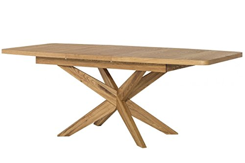 Tisch ausziehbar Esstisch VELLE Eiche massiv Natur furnier
