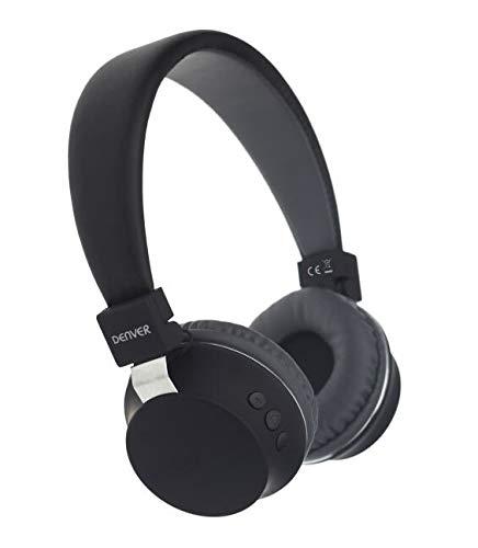 Denver BTH-205 Bluetooth On-Ear Kopfhörer mit Freisprechfunktion, Schwarz