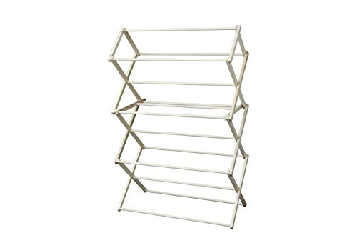 Peaceful Classics Amish Craftsman Foldable Wooden Clothes Drying Rack, Handmade Collapsible Racks...
