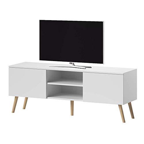 Selsey VEROZIA LIGNNUM - Mueble TV Estilo Nórdico/Mesa para TV/Mueble para Salón...