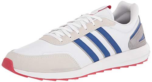 adidas Men's Retrorunner Running Shoe, White/Team Royal Blue/Scarlet, 6.5