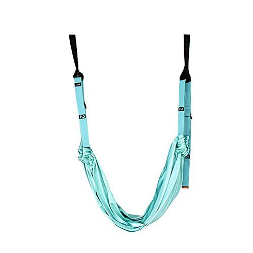 Aerial Yoga Swing Set Sling Inversión Equipo Anti Gravedad Actualizado para mejorar la inversión de yoga Inversiones Inicio, Flexibilidad y Fuerza Core Formación muscular Cuerda de aptitud,Light green