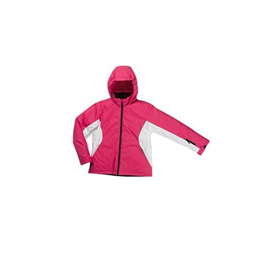 Pocopiano Mädchen Skijacke Winterjacke Schneejacke 140 Pink-weiß