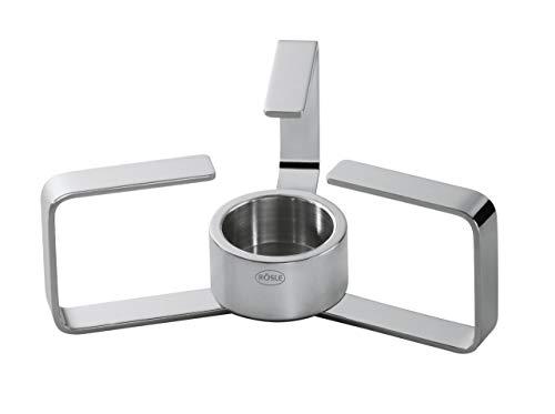 RÖSLE Stövchen Ø 17 cm; Edelstahl 18/10, Geeignet für Standard Teelicht Ø 39 mm, Zusammenklappbar, spülmaschinengeeignet