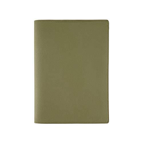 ZRJ Cuaderno de negocios A5 PU cuaderno simple cuenta de mano diario creativo superficie suave rejilla diario lateral ranura para bolígrafo con gabinete de almacenamiento regalo estudiante
