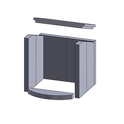 Flamado Feuerraumauskleidung Komplettset 8-teilig passend für Hark Kamin Ersatzteile Kaminofen Brennraumauskleidung Vermiculite 1.150°C