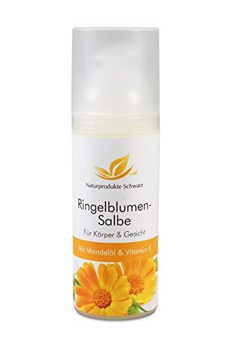 Naturprodukte Schwarz - Ringelblumensalbe mit Mandelöl und Vitamin E, 50ml