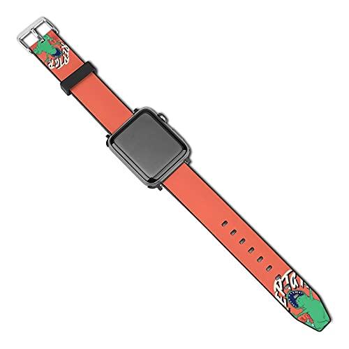 RugratsCompatible con correas de reloj A-p-p-l-e de 38 mm/40 mm 42 mm/44 mm, correa deportiva de poliuretano transpirable y suave compatible con la serie i-W-a-t-c-h, para i-W-a-t-c-h Series 5/4/3/2/1