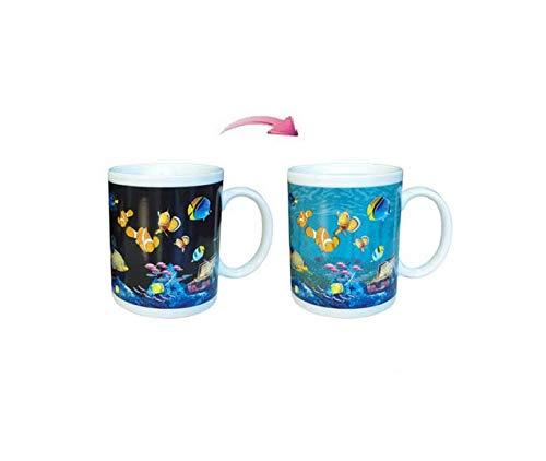 Hoocozi Seaworld Heat Changing Coffee Mug Magic Color Changing Coffee Mug - Thermometer Sensitive...