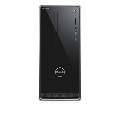 Dell Inspiron DT 3668 Desktop (Intel Core i5-7400 , 1TB HDD, Intel HD Graphics 630 with shared graphics memory, DVD RW, Win 10 Home 64bit German) schwarz mit silberbesatz