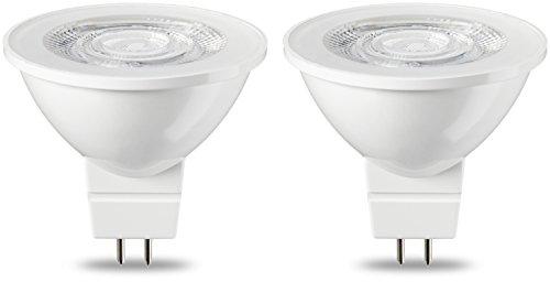 Amazon Basics Lampadina LED GU5.3 MR16, 4.5W (equivalenti a 35W), Luce Bianca Calda- Pacco da 2