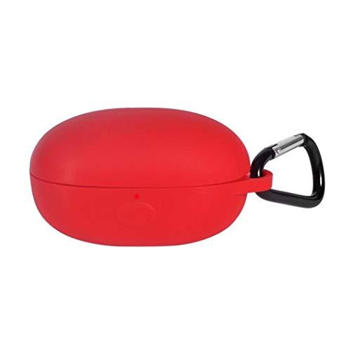 Lukame Estuche protector de silicona para bolsillo, estuche delgado y ligero Estuche protector a prueba de golpes para 1Más CustoDia de recarga(rojo)