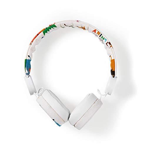 Kopfhörer mit Kabel   1,2 m rundes Kabel   On-Ear   Safari   Weiß