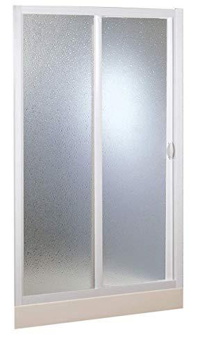 Forte BSE129001 - Cabina de ducha de 1 lado de 150 cm, reducible, color blanco