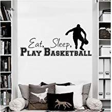 Vivityobert Letra a Sticker Citas Deportes Juego Comer Dormir Jugar Baloncesto Decoración del Hogar