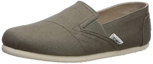 TOMS Women's Redondo Loafer Flat, Dusty Olive Oxford, 8 Medium US