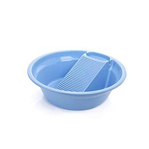 Kunststof wastafel met dikke washboard voor het wassen van babyondergoed van kunststof wasbak blauw