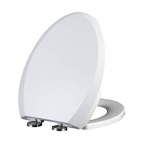 AIEST Toilet Deksel Badkamer Antibacteriële Mute Top Gemonteerd Verdikt Universele V Stijl Toiletbril Eenvoudige installatie