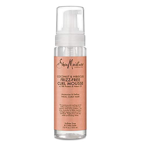 Espuma SheaMoisture coco y Hibiscus Frizz-Free Curl Mousse - 7,5 fl oz, 220 ml