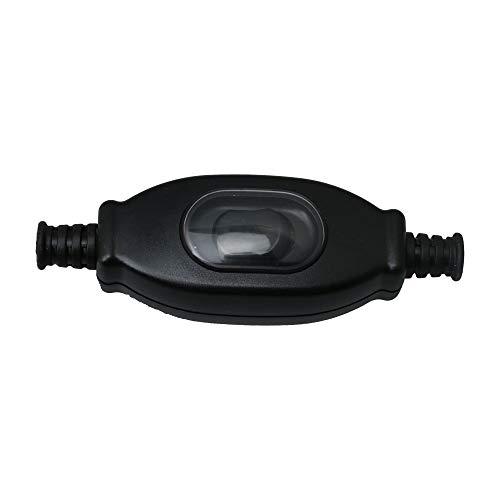 BQLZR Kippschalter aus schwarzem Kunststoff, staubdicht, wasserdicht, Ein-/Aus-Schalter, 3 A, 750 W/250 V, Druckknopf