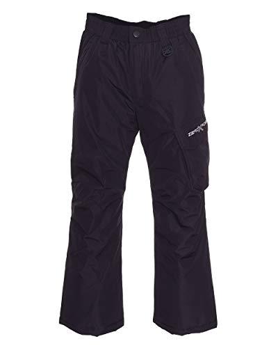 ZeroXposur Boys Snow Pants Heavyweight Insulated Kids Ski Pants (Black, Small)