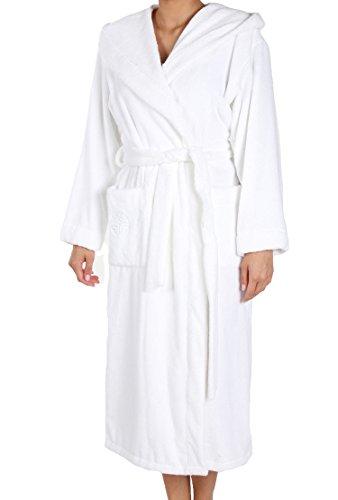 Féraud Damen Bademantel 3661728, Einfarbig, Gr. 38 (Herstellergröße: S), Weiß (Weiss 10008)